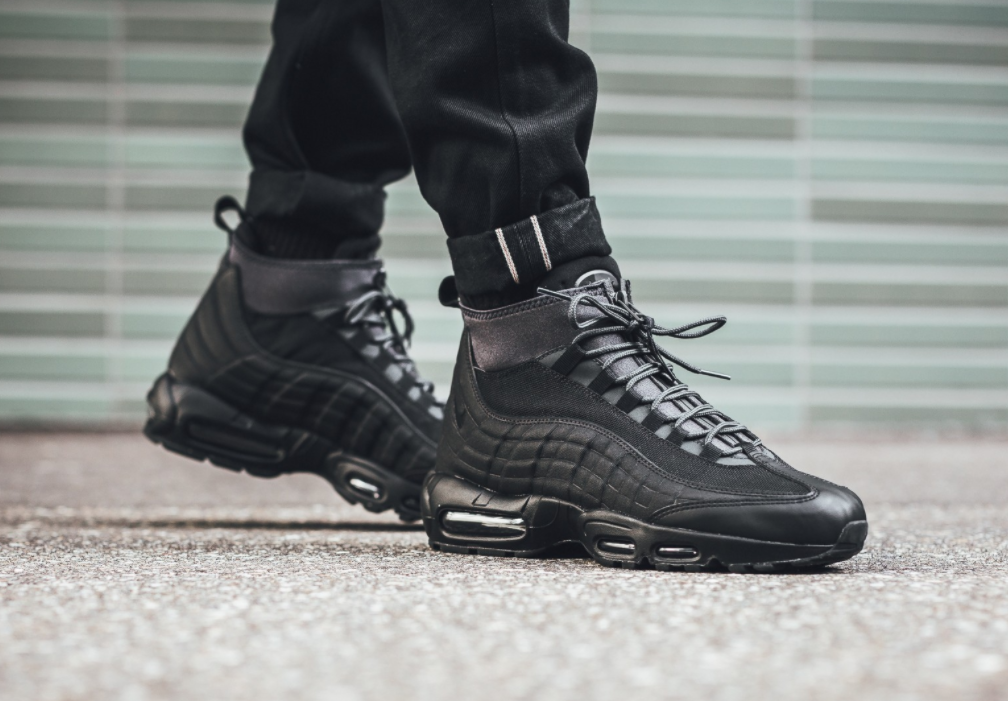 fdfc745d915 Look Out For The Nike Air Max 95 Sneakerboot Triple Black