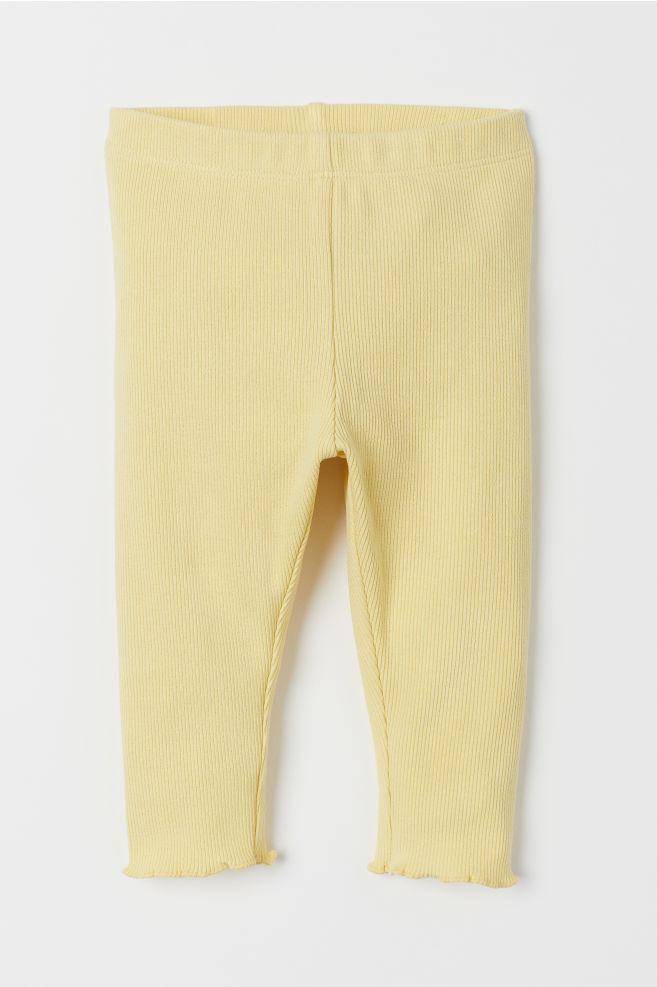 Ribbed Leggings Yellow Kids H M Us Ribbed Leggings Leggings Are Not Pants Baby Girl Pants
