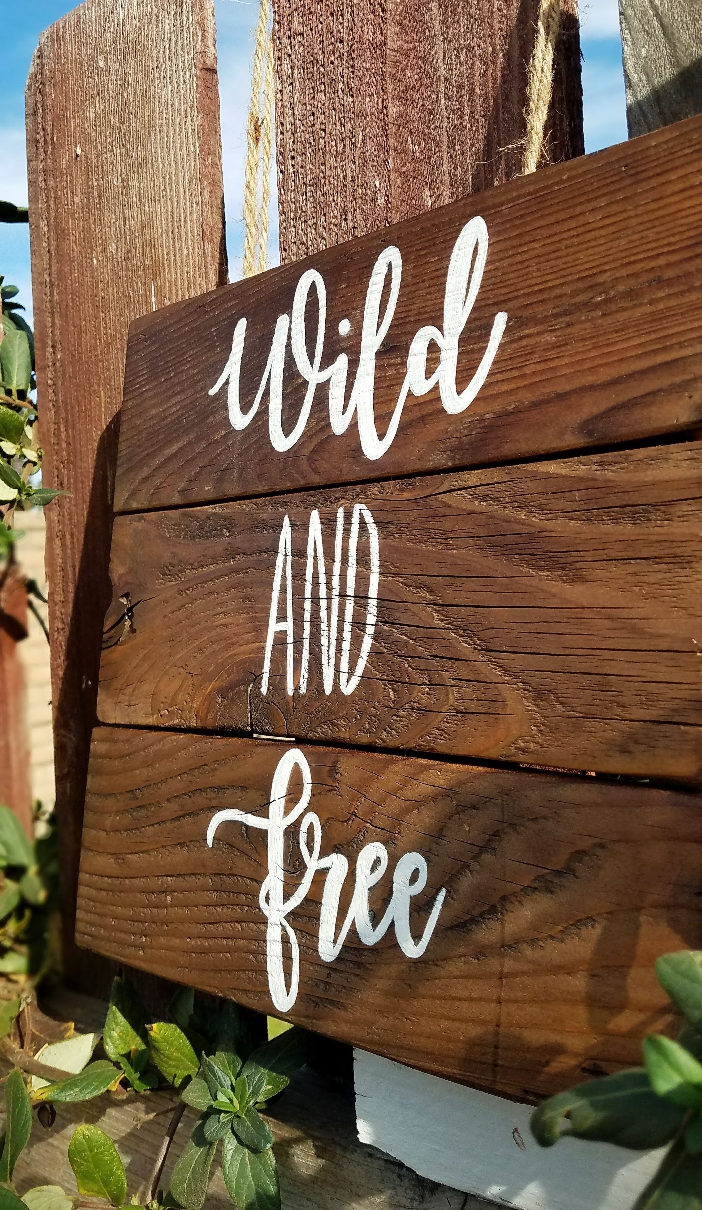 Wild And Free Wood Sign Wood Signs Rustic Sign Rustic Wood Sign Inspirational Quotes Rustic Home Dec Rustic Signs Painted Wood Signs Rustic Wall Hangings