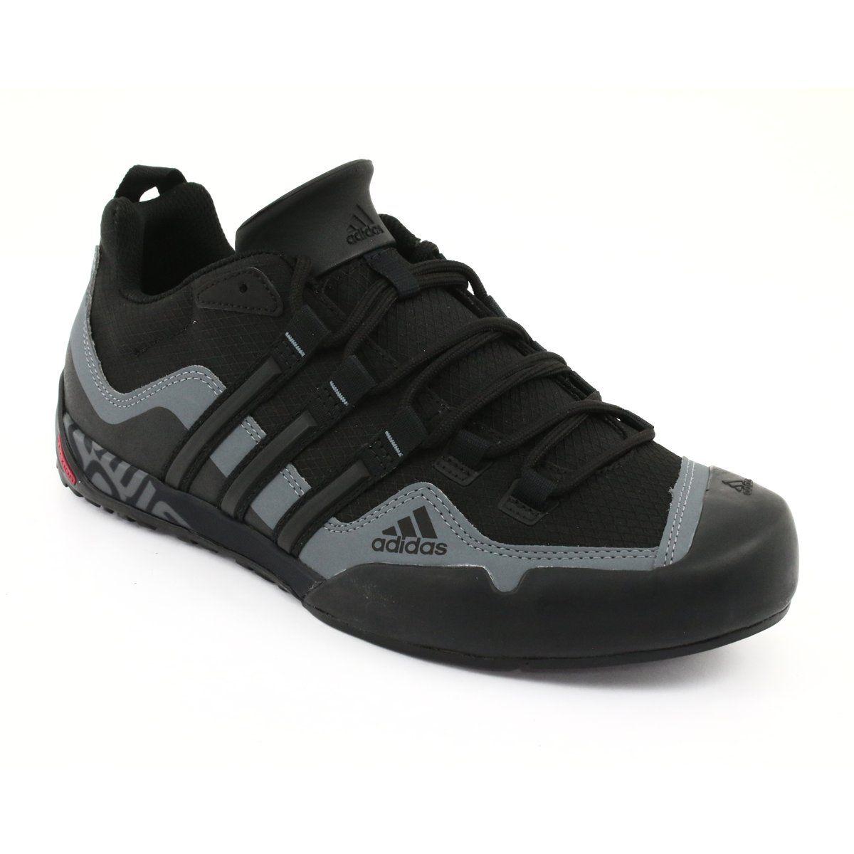 Buty Adidas Terrex Swift Solo M D67031 Czarne Szare Black Shoes Sports Shoes Adidas Sports Footwear