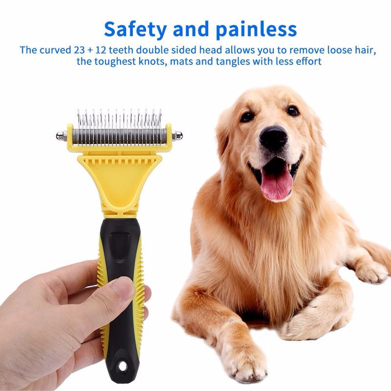 Double Sided Pet Comb Stainless Steel Grooming Brush For Small Pet