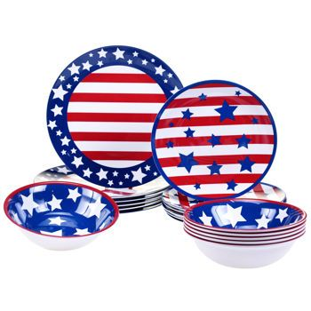 Certified International Stars u0026 Stripes 18-pc Melamine Dinnerware Set  sc 1 st  Pinterest & Certified International Stars u0026 Stripes 18-pc Melamine Dinnerware ...
