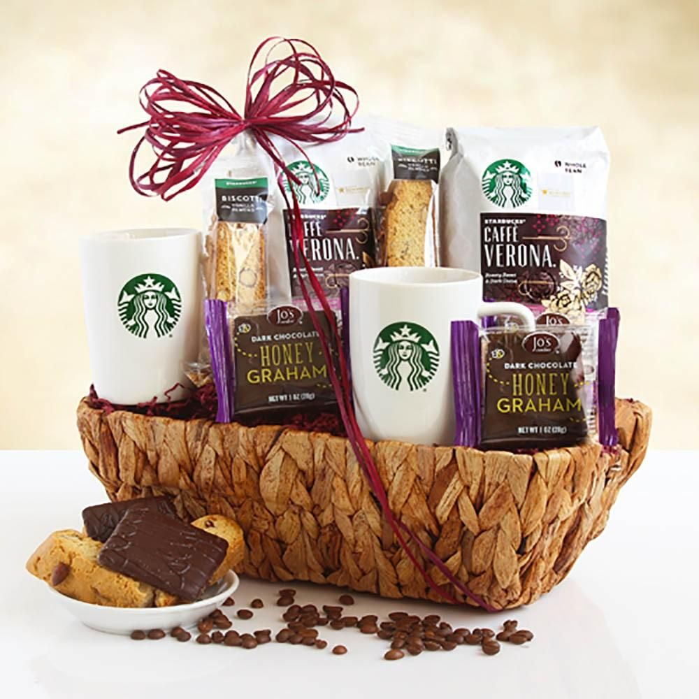 Starbucks Coffee and Goodies Gift Basket Starbucks
