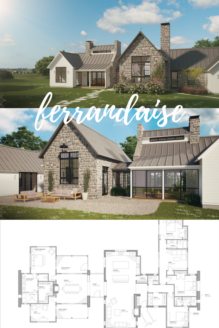Ferrandaise Farmhouse Style House Plans Farmhouse Style House Country House Plans