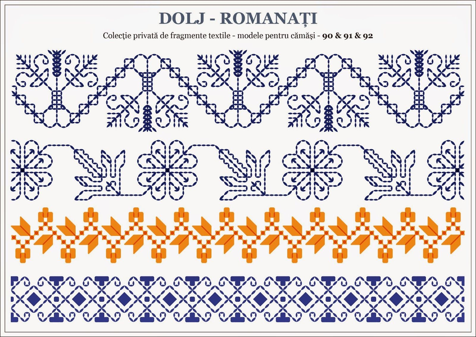Romanian Traditional Motifs Oltenia Dolj Romanati Semne Cusute Traditional Blackwork