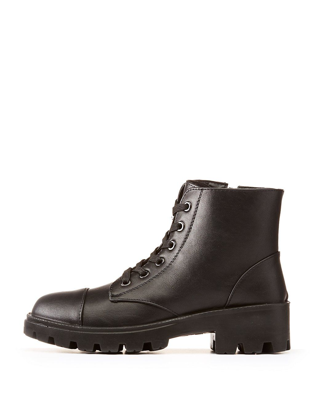 894ee8b7b10 Bamboo Lace-Up Combat Boots | Style | Combat boots, Lace up combat ...