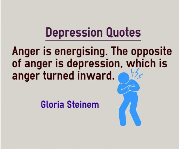 who said depression is anger turned inward