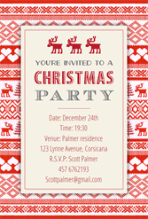 Sweaters Pattern  Free Printable Christmas Invitation Template