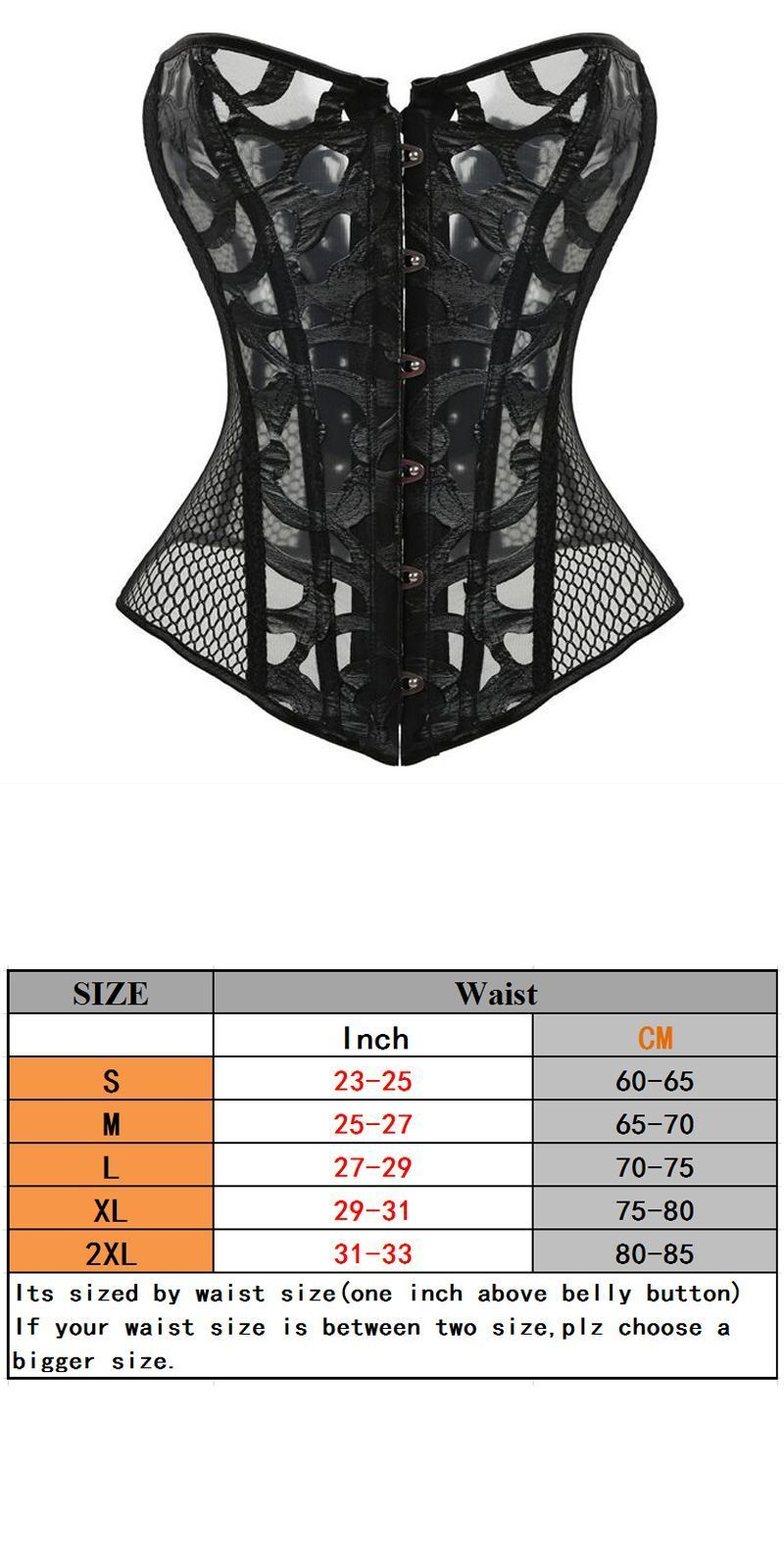 691082e25ac Newest hot mesh corset boned black bustier top women summer slimming overbust  sexy transparent see trough waist trainer corset  women  bustiers      corsets ...