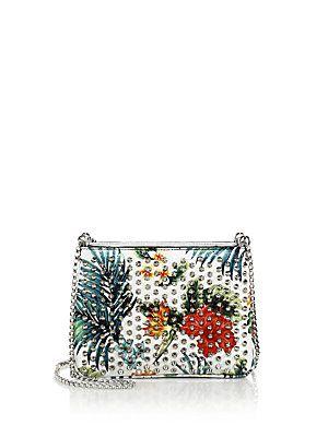 baa9dd1628d Christian Louboutin Triloubi Small Studded Floral-Print Leather ...