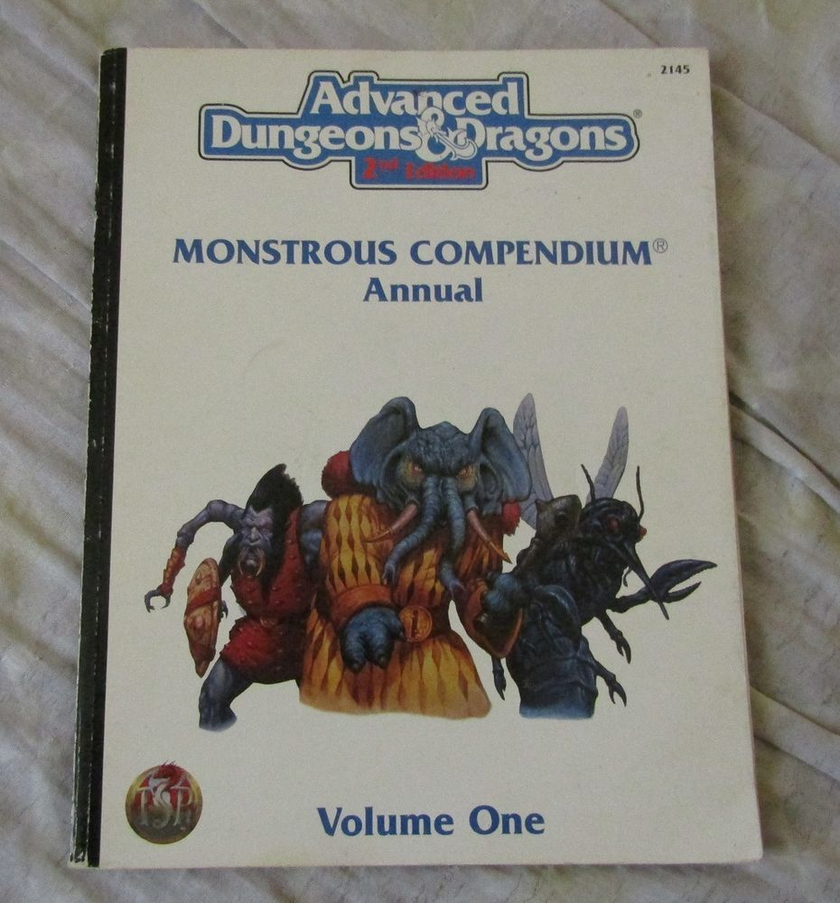 Ad D 2nd Edition Monstrous Compendium Annual Volume 1 Tsr 2145 Tsr Advanced Dungeons And Dragons Dungeons And Dragons Compendiums