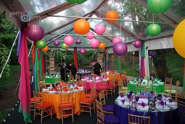 A Purple Gold Graduation Party