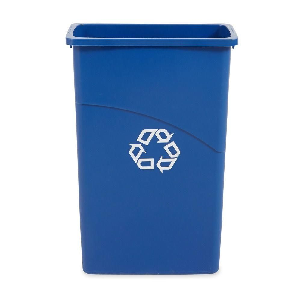 Home Depot Recycling Bins Slim Jim 23 Galblue Recycling Container  Products