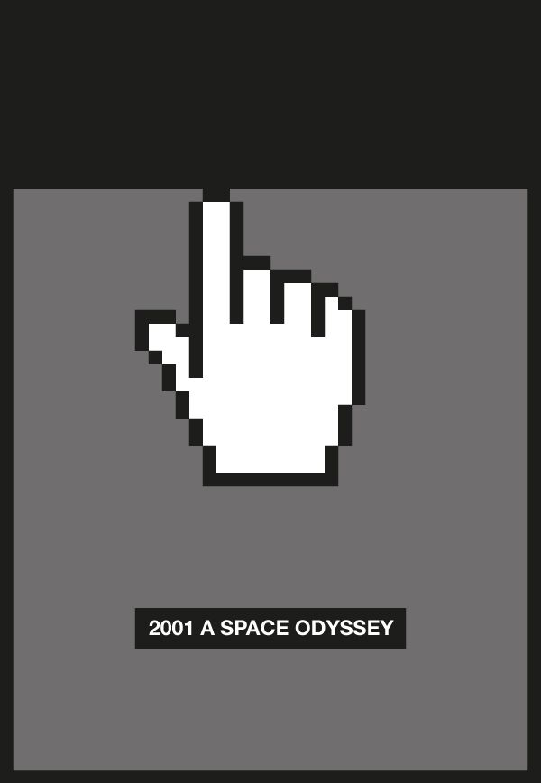 2001: A Space Odyssey [Stanley Kubrick, 1968] «Cursor Movie Posters Author: Marco Quintavalle»