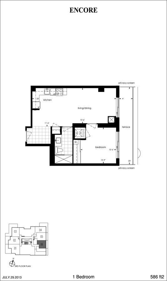 Encore At Equinox Plan 586 1br 586sqft Floor Plans How To