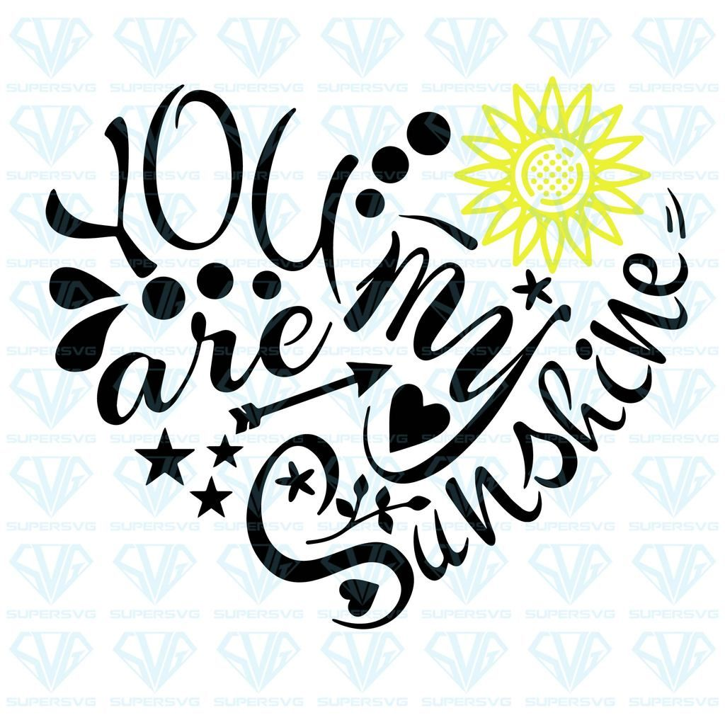 Photo of You Are My Sunshine SVG Files For Silhouette, Files For Cricut, SVG, DXF, EPS, PNG  Instant Download