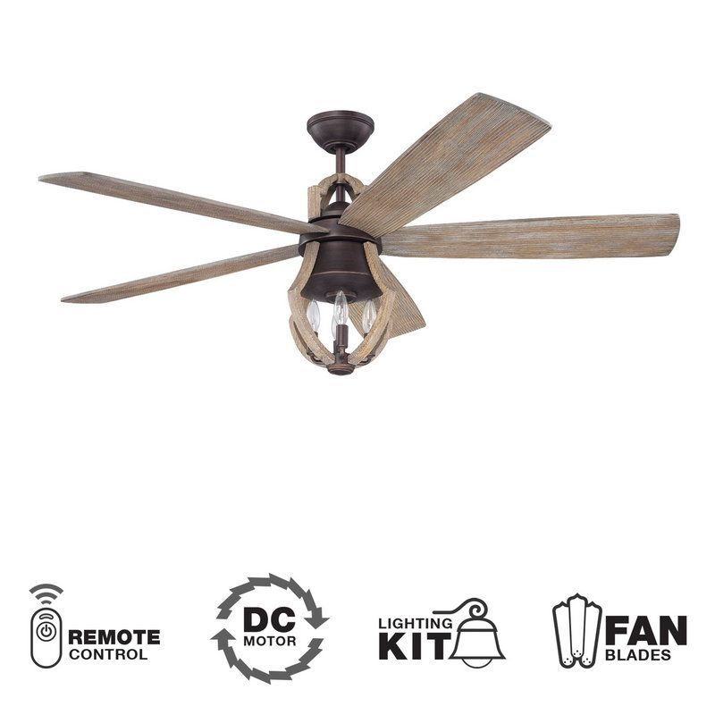 View The Craftmade Win56abz5 Winton 56 5 Blade Indoor Ceiling Fan With Integrated Light Kit