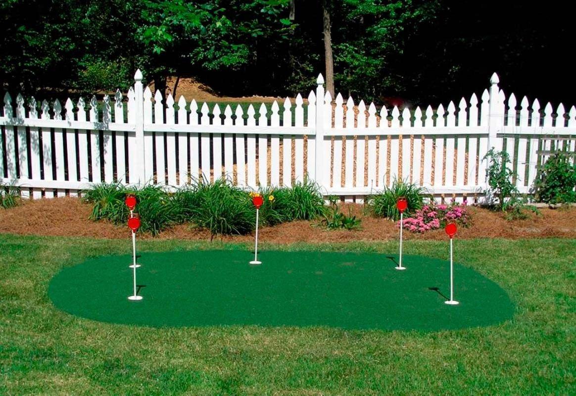 Backyard putting green installation in 2020 backyard