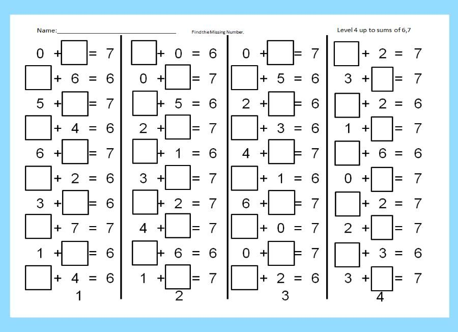 Find the Missing Number Unknown Number in an Addition Problem – Find the Missing Number Worksheet
