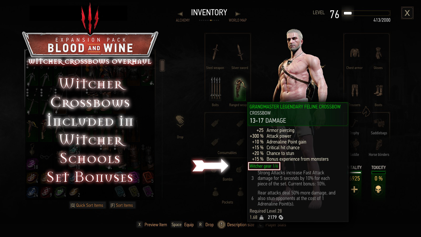 Witcher Crossbows Overhaul at The Witcher 3 Nexus - Mods and