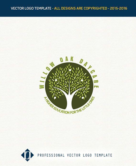 Willow Logo Oak Tree Design Daycare Logos Childcare Education