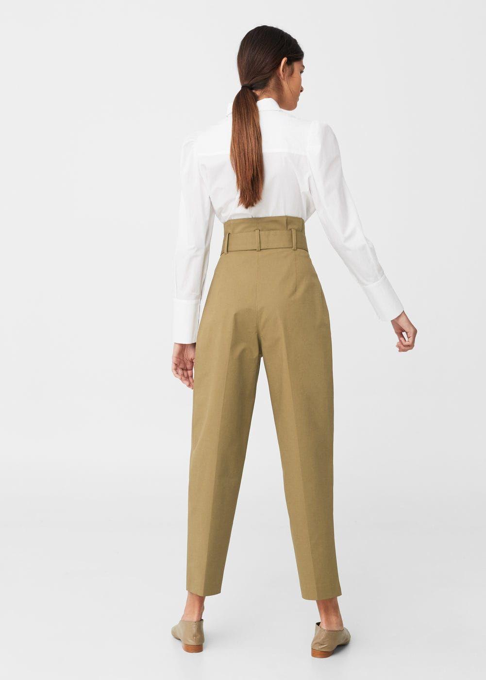 8e6b6c4b8cbc Pantalon taille haute   MANGO   Dressing S   Pinterest