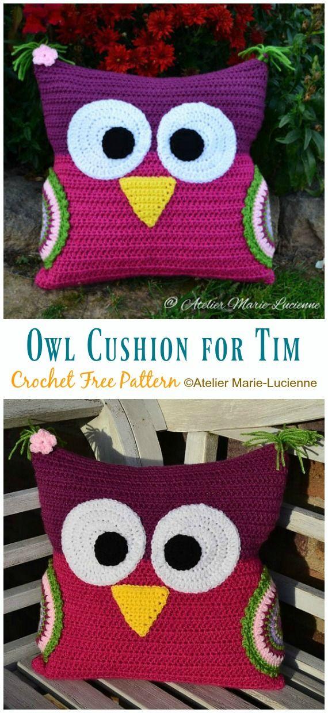 Huggable Owl Pillow Crochet Free Patterns Doudou Crochet