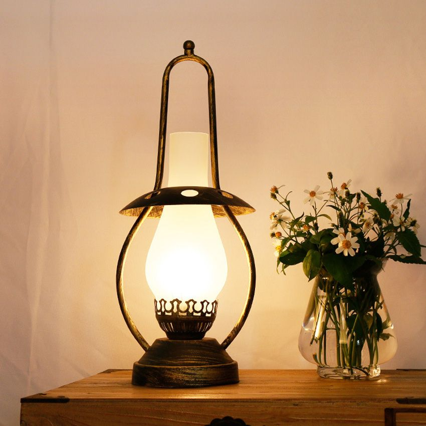 Vintage Desk Lamp Quality Bedside Lamps Directly From China Suppliers Nordic Frosted Gl Shade Retro Kerosene Bronze