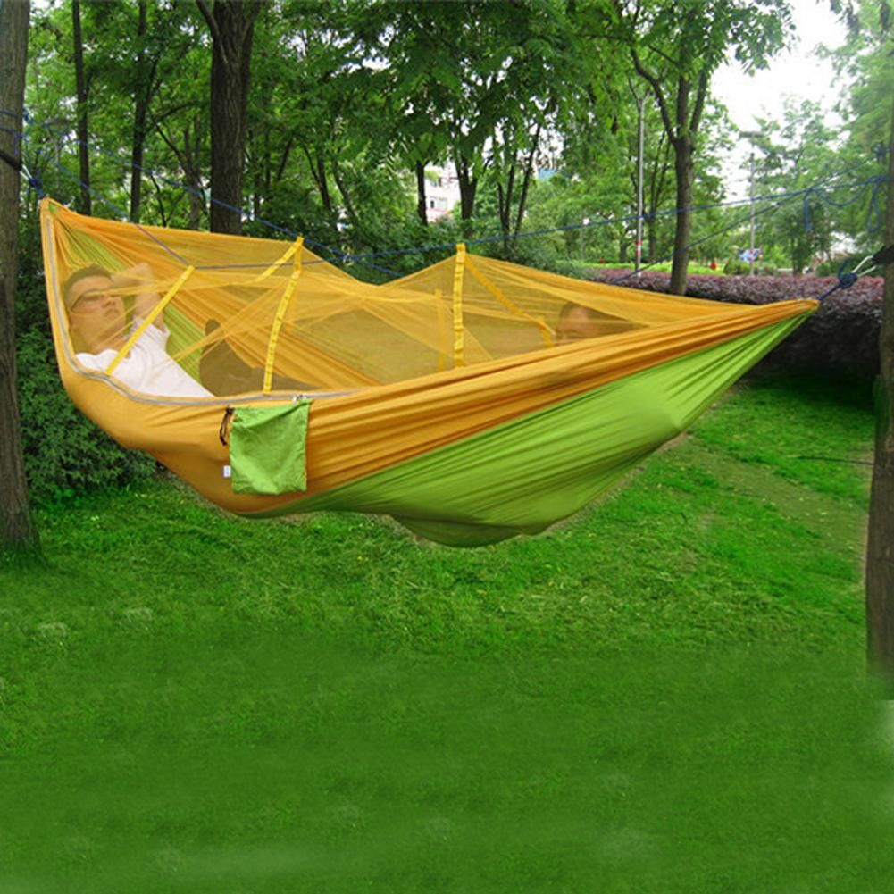 High strength parachute fabric hammock with mosquito net products