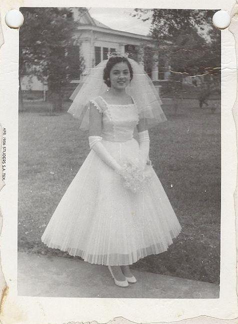 Vintage Brides — 1956 bride Maria Floresville, Texas   Vintage to ...