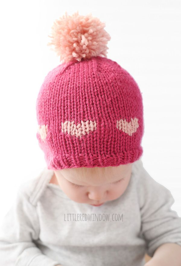 Little Valentine Fair Isle Heart Hat Knitting Pattern | Fair isles ...