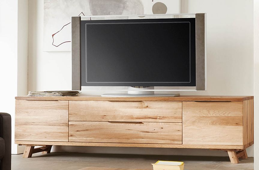mueble tv nordico viking material madera de roble eur