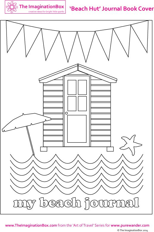 Creative travel friendly activities and printables for kids summer cabine de plage - Dessin cabine de plage ...