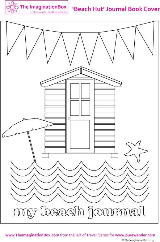 Summer Beach Hut Coloring Sheet Template
