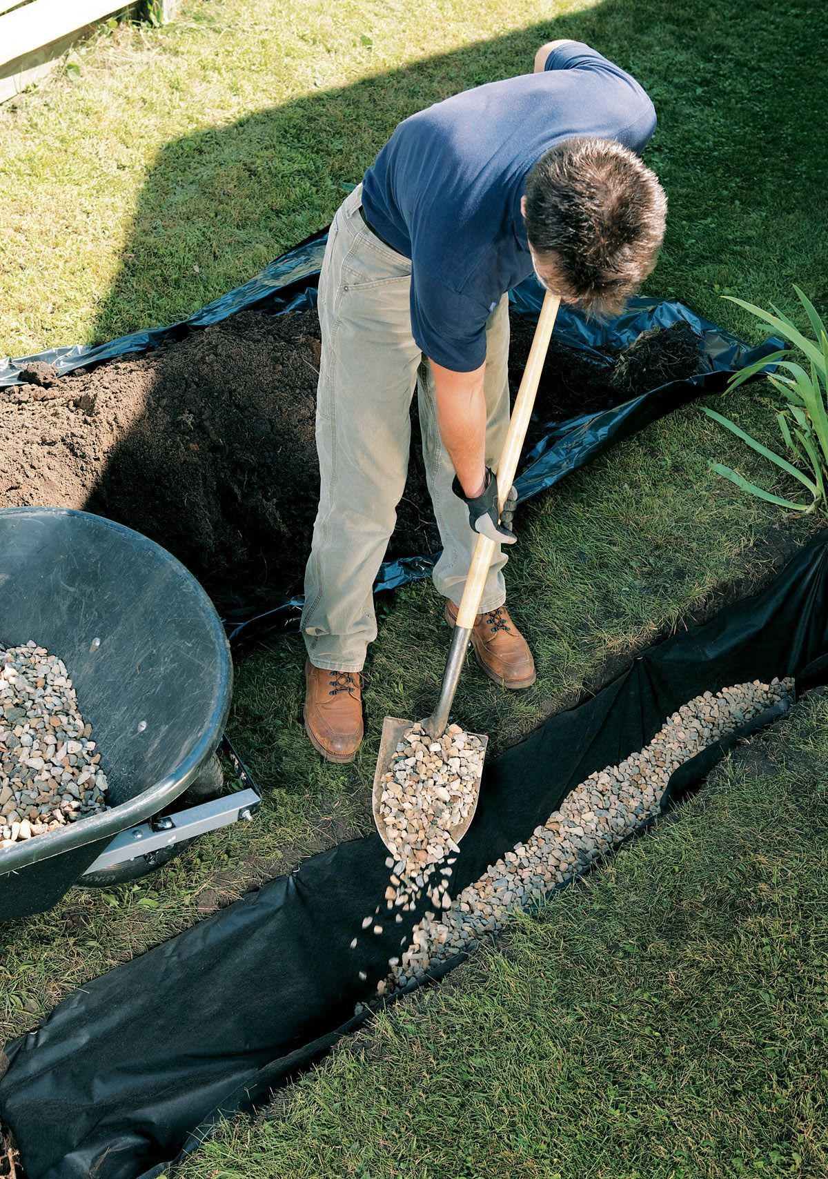 Installing French Drain 04 Drainage For Roof In 2019 Steinbeet