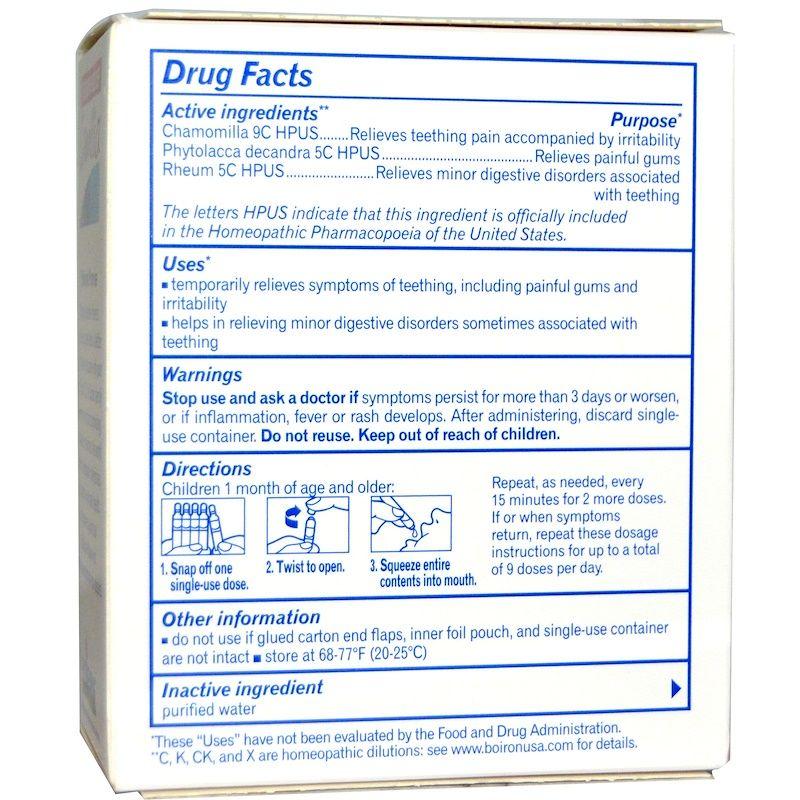 Boiron مسكن لآلام التسنين كاميليا 30 جرعة سائلة 0 034 أونصة سائلة بكل جرعة Teething Symptoms Homeopathic Active Ingredient