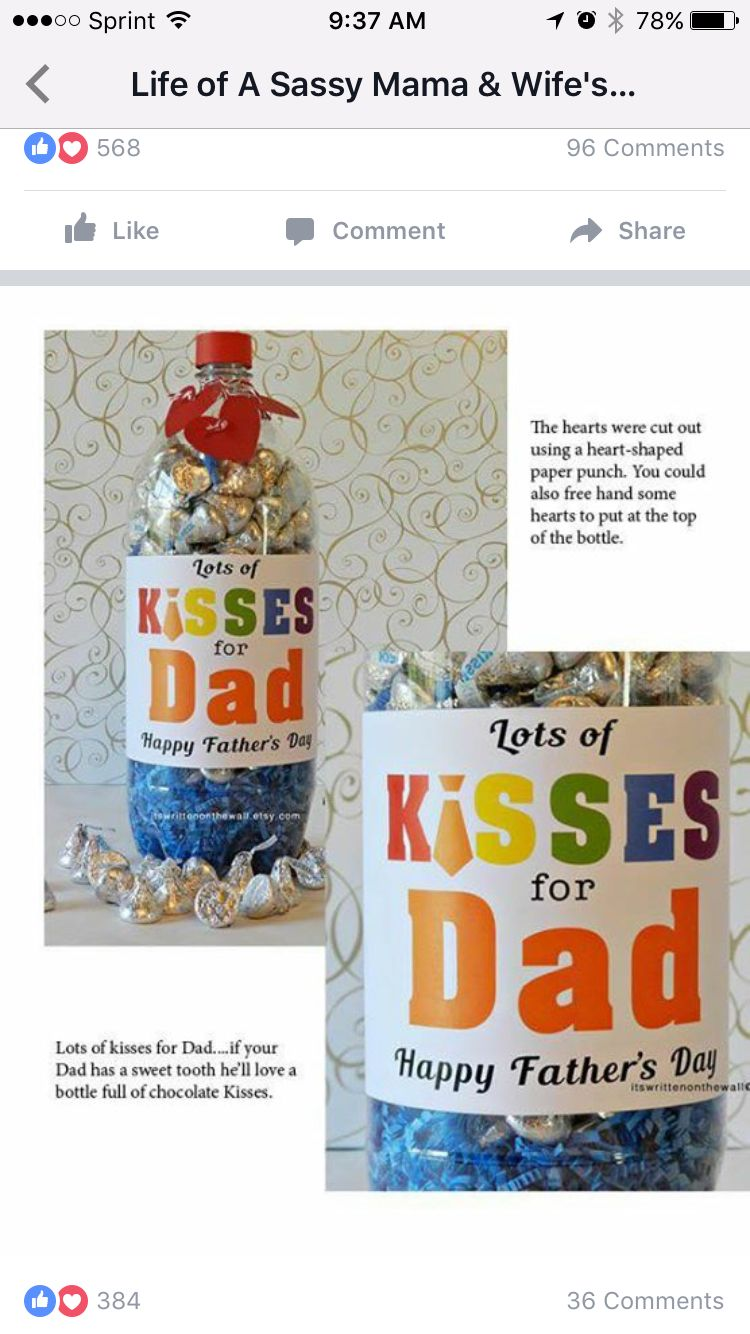 Lots of kisses for daddy easy father day gift