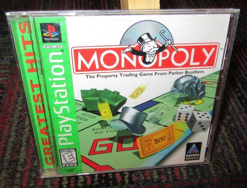 MONOPOLY - GREATEST HITS GAME FOR PLAYSTATION PS1, CASE