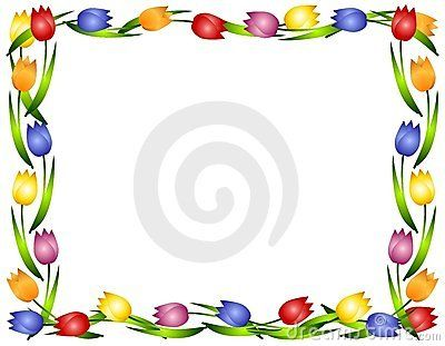 spring tulips flower frame or border tavasz spring pinterest rh pinterest com
