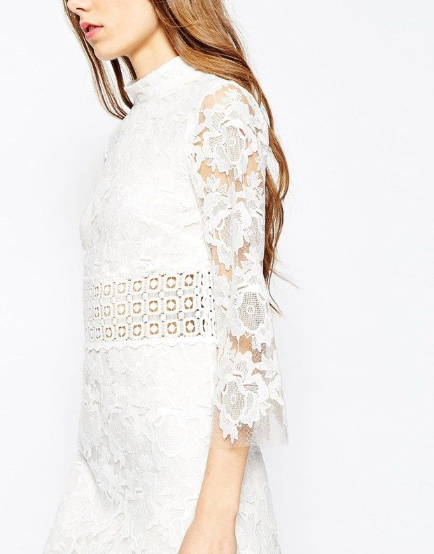Self Portrait –inspired white lace dress, via @sarahsarna.