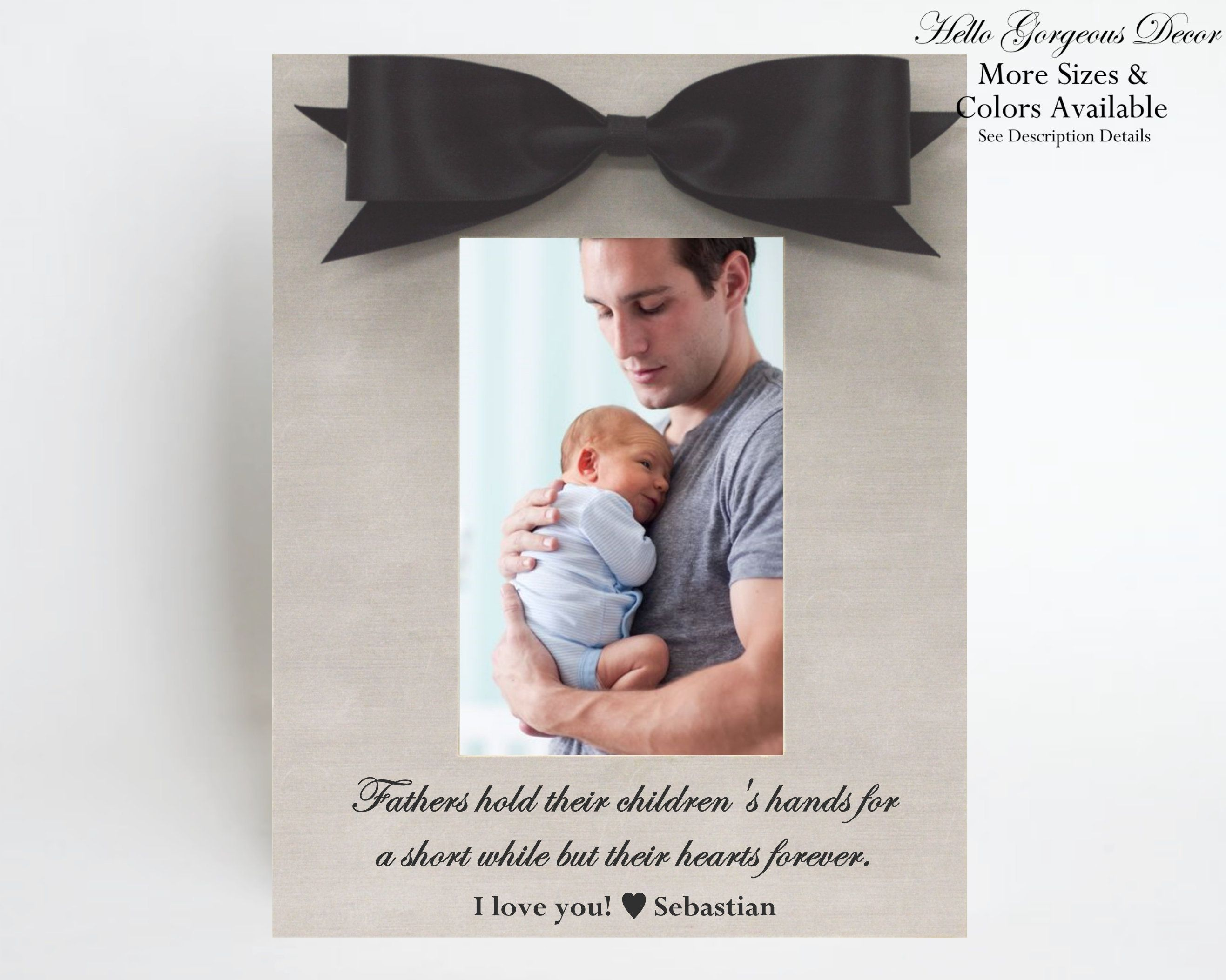 Fathers day gift for dad picture frame personalized