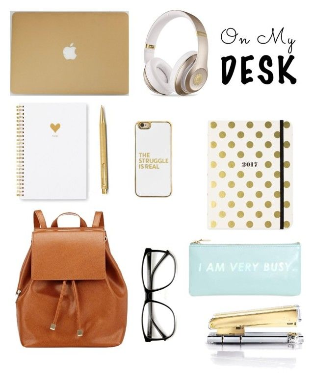 """Gold"" by lampron7 ❤ liked on Polyvore featuring interior, interiors, interior design, home, home decor, interior decorating, Kate Spade, Caran D'Ache, ZeroUV and Frontgate"