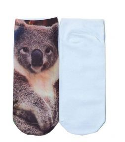 Socks Women's 3D Koala Print Socks Ladies Low Rise Ankle Socks - Zabardo