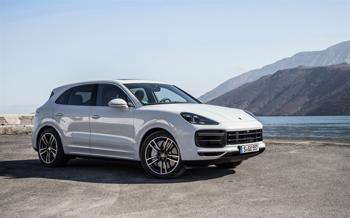 Download Wallpapers 4k Porsche Cayenne Turbo 2018 Cars Suvs New