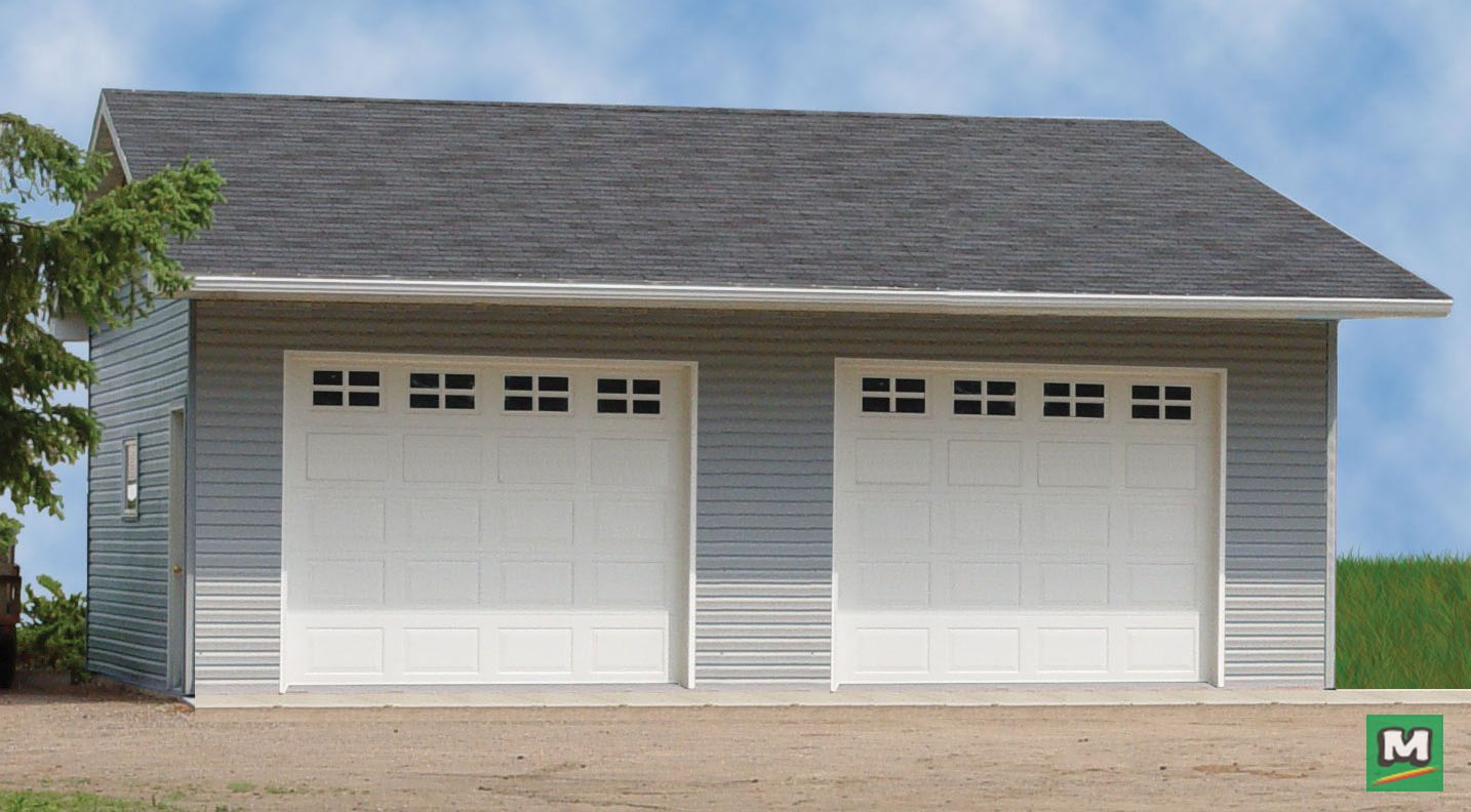 Tired Of Parking Outside Then Check Out This 22 X 24 X 10 Two Car Garage Along With Asphalt Roof Shingles A House Exterior Garage Plans Menards