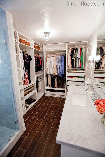 Photo of Master bathroom and closet reveal.
