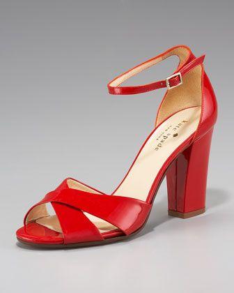 bb33285aca49 kate spade new york isabel crisscross patent sandal