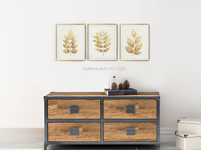 Set 3 Prints Cream Wall Art Download Boho Bedroom Living Room Artworks Beige Leaves Art Trio Khaki Decor For Kitchen Dining 12x16 14x18 By Ephericaart Set3