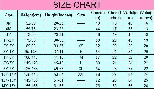 Kids Size Chart For Clothes Accurate Clothing Sizes