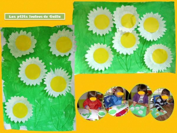 Bricolage enfants pour le printemps la saison des marguerites bricolages pour le printemps - Bricolage de printemps ...